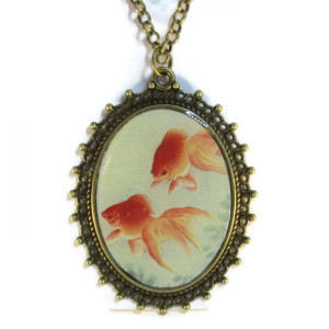 Two Goldfish - Necklace