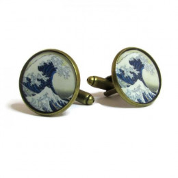 The Great Wave - Cufflinks