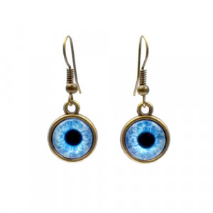 Blue Zombie Eye Earrings