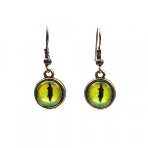 Green Dragon Eye Earrings