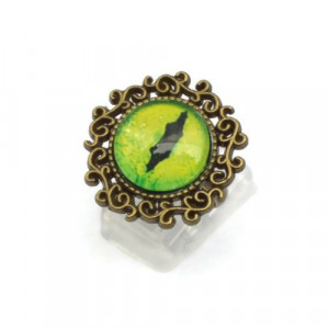 Green Dragon Eye Ring