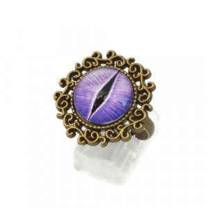 Purple Dragon Eye Ring