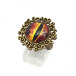 Brown Dragon Eye Ring