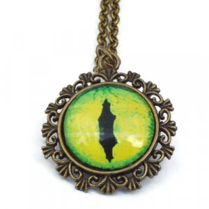 Green Dragon Eye Necklace