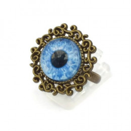 Blue Zombie Eye Ring