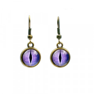 Purple Dragon Eye Earrings