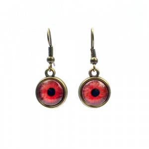 Red Zombie Eye Earrings