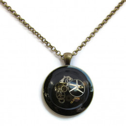 Black Steampunk Necklace